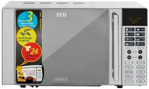 Best microwave oven IFB 20 L Convection Microwave Oven (20SC2, Metallic Silver)
