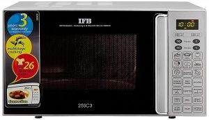 Best mirowave oven to buy IFB 25 L Convection Microwave Oven (25SC3, Metallic Silver)
