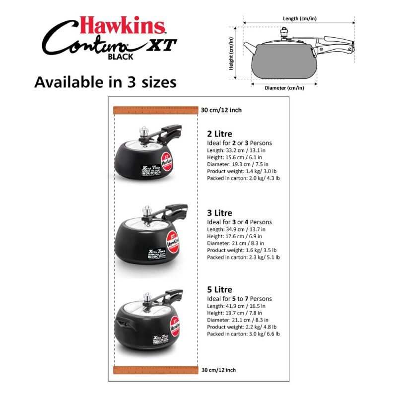 Sizes of Hawkins Pressure Cooker