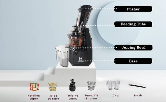 Features of Hestia Nutri-Squeeze Cold Press Juicer